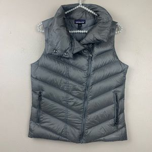 Patagonia Silver Gray Down Puffer Vest Quilted S